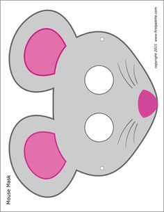 Four free printable mouse masks including a black-and-white mask to color and three colored mouse masks to craft into wearable paper masks. Animal Mask Templates, Printable Animal Masks, Animal Masks For Kids, Mask For Kids, Mouse Mask, Bear Mask, Chinese Crafts, Mouse Crafts, Cowboy Birthday