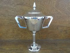 Vintage English Engraved Trophy Cup With Lid Steer Award Prize Beef Agricultural Livestock Farming circa 1980's early 1990's Purchase in store here http://www.europeanvintageemporium.com/product/vintage-english-engraved-trophy-cup-with-lid-steer-award-prize-beef-agricultural-livestock-farming-circa-1980s-early-1990s/