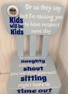 Time out chair naughty step behaviour aid by UglyDucklingGifts