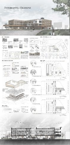 Architecture Model Making, Architecture Presentation Board, Architecture Concept Drawings, Architecture Collage, Presentation Layout, Architecture Board, Architecture Details, Landscape Architecture, Landscape Design