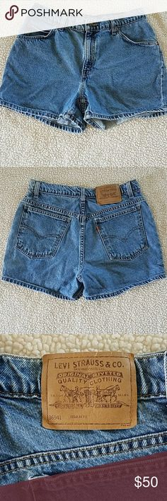 **JUST ADDED** Genuine vintage Levi shorts • Vintage Levi shorts  • 941 regular fit/ size says 10 but measurements are listed below  • 100% cotton  • Measurements: waist - approximately 15 inches laying flat/ rise - approximately 10.5 inches/ inseam - approximately 3.75 inches  • Perfect condition - no flaws whatsoever  • Smoke free home  • Reasonable offers will be considered! Levi's Shorts Jean Shorts