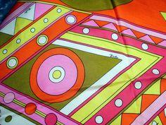 Vintage 1960s  Emilio PUCCI Mod Silk Scarf
