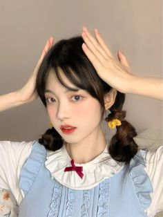 Uzzlang Girl, Girl Face, Cute Makeup Looks, Kawaii Hairstyles, Pretty Korean Girls, Makeup Makeover, Young Models, Girl Model, Aesthetic Girl