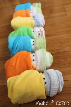 Diaper babies for a Baby Shower gift!!  Cute!