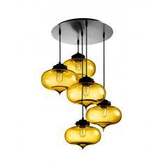 5 Lights Hanging Pendant Lighting Fixture for Living Room