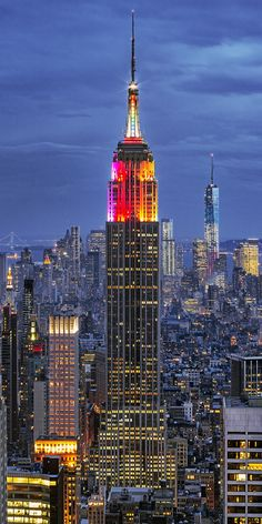 Empire State Building: Rainbow Colors, NY, USA | Flickr
