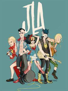 Punk Justice League. by Annie Wu.