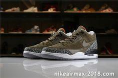 8b152c8de7c Air Jordan 3 Retro JTH AV6683-300 Mens Sneakers Light Brown Black White Gray