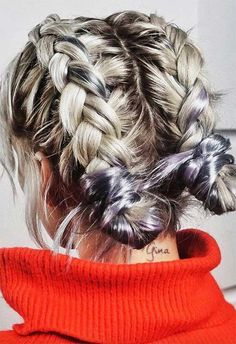 51 cute braids for short hair: short braided hairstyles for women . - 51 cute braids for short hair: short braided hairstyles for women – Hairstyles + makeup fe - Braids For Short Hair, Cute Hairstyles For Short Hair, Winter Hairstyles, Easy Everyday Hairstyles, Hairstyles For Women, How To Braid Your Own Hair Short, Hair Styles Everyday, Ideas For Short Hair, Short Hair Buns