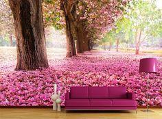 Kiraz ağacı çiçekli duvar kağıdı modeli