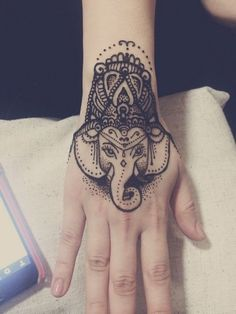 40 Cute and Attractive Small Hand Tattoo Designs That Will Make You Want One Elephant Henna Designs, Henna Elephant, Elephant Tattoos, Small Elephant, Elephant Head, Animal Tattoos, Small Hand Tattoos, Hand Tattoos For Guys, Trendy Tattoos