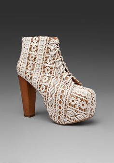 omg omg om ggggg JEFFREY CAMPBELL Lita in Beige Lace Tan at Revolve Clothing - Free Shipping!