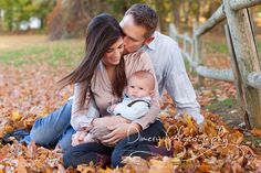outdoor family portrait, autumn family portrait, family of three © Dimery Photography 2013