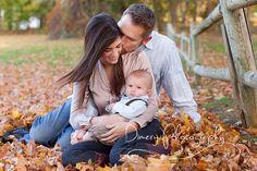 outdoor family portrait, autumn family portrait, family of three © Dimery Photography 2013