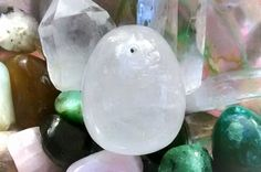GIA Certified Large Drilled Clear Quartz Yoni Egg LDCC*1 by TheWomanWhole on Etsy