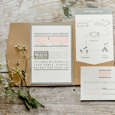 Romantic Stationery // Photo: Jess Loves Jessica Photography // Invitations: Ginger P Designs http://www.theknot.com/weddings/album/a-rustic-romantic-wedding-in-stillwater-mn-132453