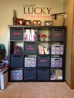 Your Way Cubes: IKEA unit + Thirty-One = perfect organization!