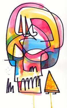 Pizza Skull | Work | Jon Burgerman