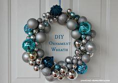DIY Ornament Wreath Tutorial