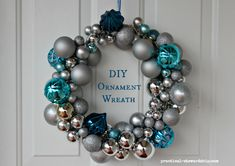 DIY Ornament Wreath Tutorial