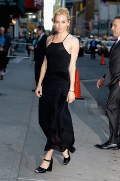 Best Dressed: Sienna Miller in a Roland Mouret black dress