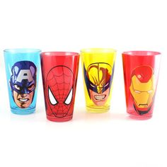 Marvel Masks Pint Glass Set Of 4, $18, now featured on Fab.