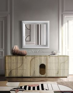Exclusive sideboards are necessary in order to create a luxury home. These exquisite items are able to upscale any living room or dining area. #bocadolobo #luxuryfurniture #interiordesign #designideas #livingroom #modernlivingroom #decorideas #homeandecoration #livingroomideas #interiodesign #decor #homedecor #livingroomdecor #interiordesigninspiration #interiorinspiration #luxuryinteriordesign #homedecor #decorations #homedecor #buffetsandcabinets Contemporary Hallway, Contemporary Interior Design, Luxury Interior Design, Interior Design Inspiration, Design Ideas, Sideboard Decor, Modern Sideboard, Unique Furniture, Luxury Furniture