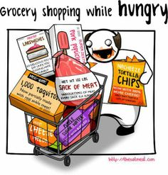 I knew it -Shopping while hungry
