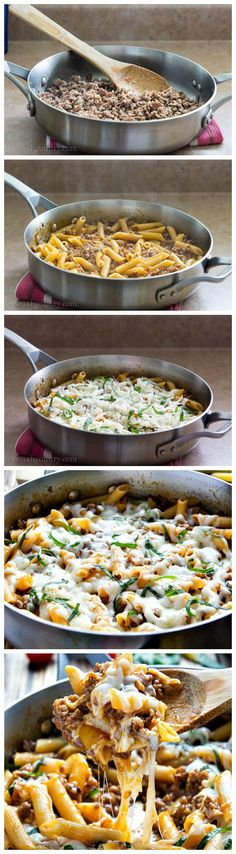 One Skillet Baked Ziti with Progresso fire roasted tomato sauce recipe starter