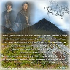 """Quote from """"Dragonfly in Amber"""" by Diana Gabaldon's Outlander series OutlanderFanArt by @OrkneyHeart"""