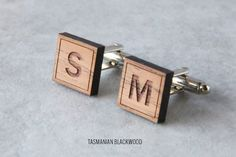 Custom 2 Letters Cuff Links Monogram Personalized Cufflinks Custom Wedding Cufflinks Custom Initial Groom Cufflinks 1920s Film Style