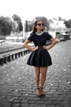 Love the dress! Not the usual little black dress Beauty And Fashion, Passion For Fashion, Womens Fashion, Cute Dresses, Cute Outfits, Amazing Dresses, Dressy Outfits, Black Outfits, Fashionable Outfits