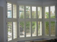 Tier on tier shutters fitted to baywindow