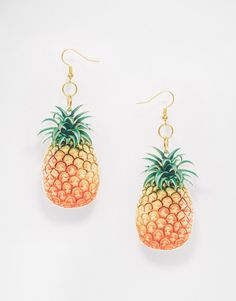 Mega cool Suzywan Pineapple Earrings - Multi Suzywan DELUXE ¯reringe til Damer til hverdag og til fest
