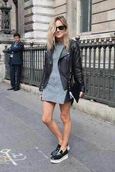 Street style: tenues parfaites pour une #sortie relax - #streetstyle #mode #style #tendance #robe #perfecto #Londres