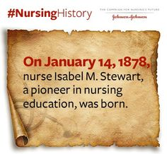 On January 14, 1878, Isabel M. Stewart was born. She was a pioneer in advancing #nursing education.
