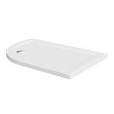 Left handed offset quadrant stone shower tray 1200 x 800