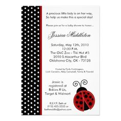Deals5x7 Lady Bug Black PolkaDot Baby Shower InvitationWe have the best promotion for you and if you are interested in the related item or need more information reviews from the x customer who are own of them before please follow the link to see fully reviews