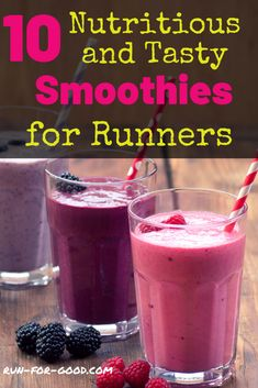 Here are 10 healthy, delicious smoothies for runners that deliver the nutrients and energy you need to boost your performance and recovery. Fitness Smoothies, Yummy Smoothies, Smoothie Diet, Weight Loss Smoothies, Workout Smoothie, Running Food, Protein Smoothie Recipes, Clean Eating Recipes For Dinner, Dinner Recipes