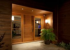 Contemporary Antigua Doors Entry door with sidelights #AntiguaDoors