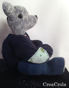 Herinneringsbeer Balou, gemaakt van Koeka's mooi kleding. Cadeautje voor... www.CreaCrola.nl