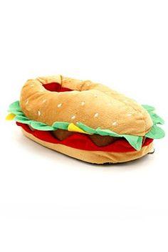 Cheeseburger Plush Slippers  $24.50