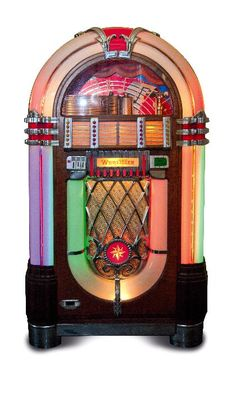 """Wurlitzer Company, Juke Box 'bubbler', 1946....only I want a """"replica that plays cps/mp3,etc."""