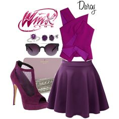 A fashion look from January 2015 featuring one shoulder shirt, purple skirt and call it spring shoes. Browse and shop related looks. One Shoulder Shirt, Famous Books, Purple Skirt, Club Style, Steampunk, Winx Club, Spring Shoes, Character Outfits, Club Outfits