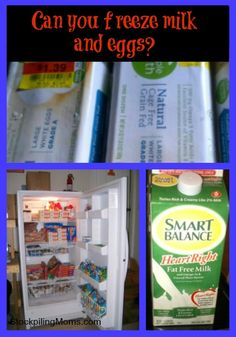 How to freeze milk and eggs so you can stockpile and save money!