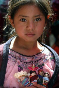 Chichicastenango girl - beautiful baby from Guatemala.