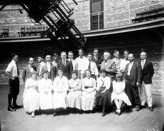 Yerkes Observatory staff, August 1916. University of Chicago Photographic Archive.