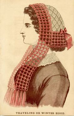 Daisy Travelling or Winter Hood...this particular hood pattern shows up in 1863, and in and English publication in 1865 and 1866