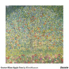 Apple Tree by Gustav Klimt, Vintage Art Nouveau Ceramic Tiles Tree Tapestry, Tapestry Wall Hanging, Apple Tree, Red Apple, Design Your Own Poster, Custom Canvas Prints, Victorian Art, Gustav Klimt, Tree Wall