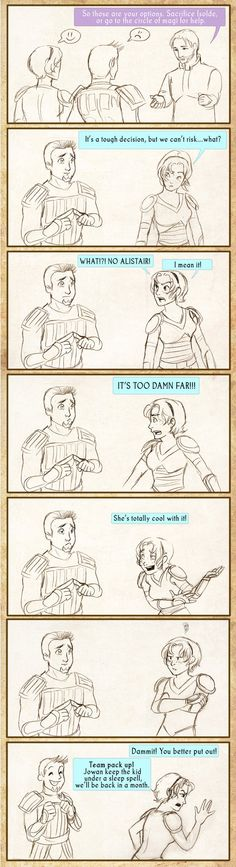 Seriously though.. Haha Alistair, Dragon Age Origins